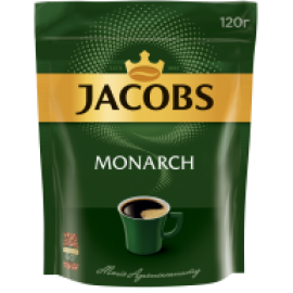 Кофе растворимый Jacobs Monarch, 120г , пакет