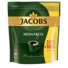 Кофе растворимый Jacobs Monarch, 400г , пакет